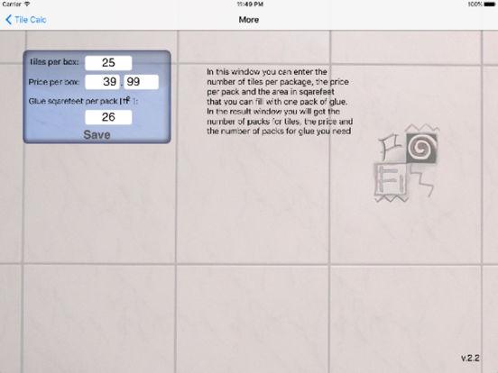 Tile Calc iPad Screenshot 3
