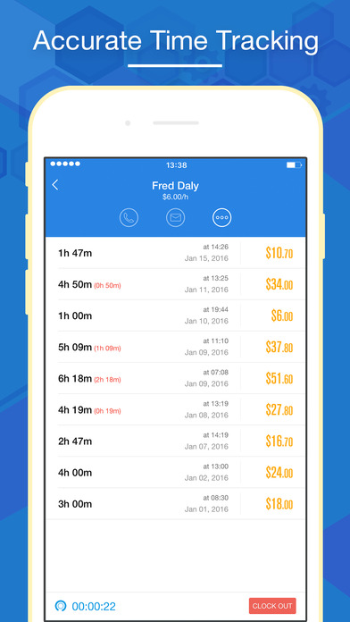 Hours Keeper Pro - Timesheet, Tracking & Billing Screenshots