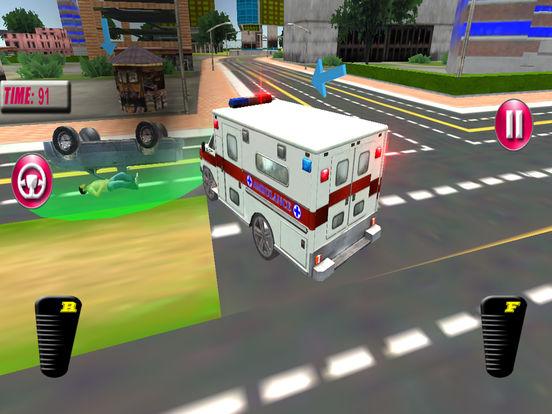 Fast Ambulance Rescue Duty 3D Pro screenshot 6