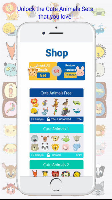 Cute Animals Emojis Keyboard screenshot 4