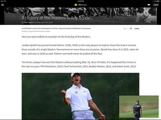 The Masters Tournament iPad