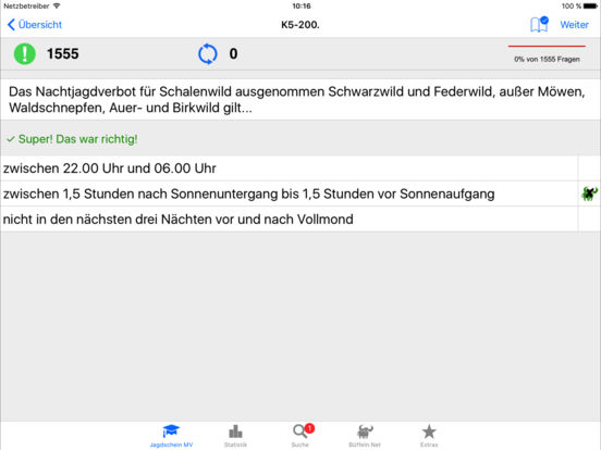 Jagdschein Mecklenburg-Vorpommern iPad Screenshot 2