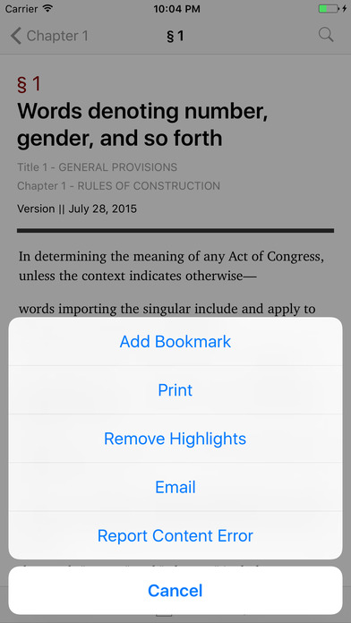 General Provisions (Title 1 United States Code) iPhone Screenshot 3