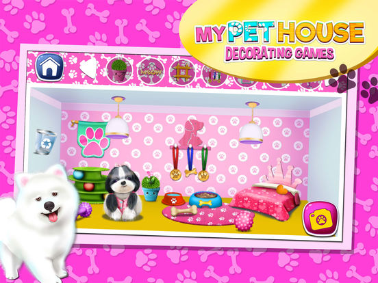 App shopper my pet house decorating game s animal home for Animal room decoration games