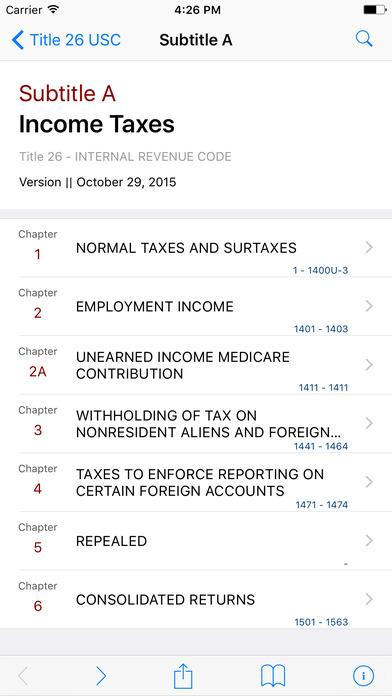 Internal Revenue Code (Title 26 United States Code) iPhone Screenshot 2