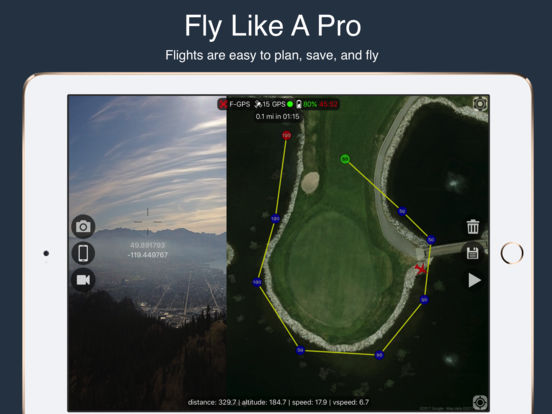 Flight Plan For DJI Phantom 2 Vision+ Screenshots