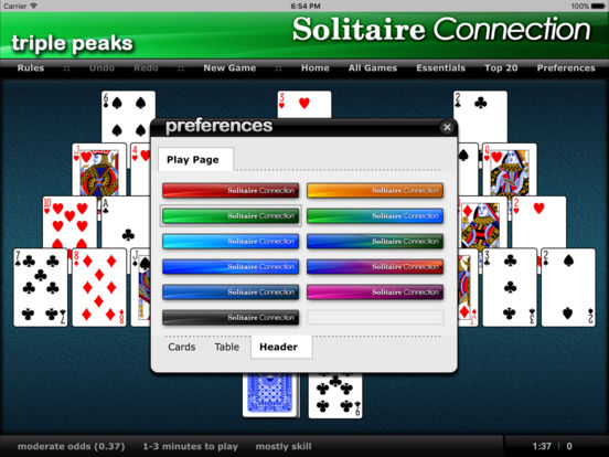 Triple Peaks - Solitaire Connection iPad Screenshot 1