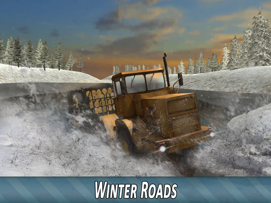 Winter Timber Truck Simulator Full для iPad