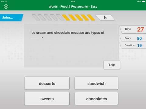 Johnny Grammar - Изучайте английский язык для iPad