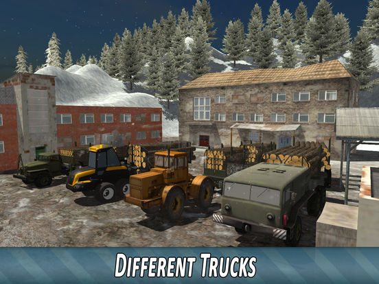 Winter Timber Truck Simulator Full screenshot 7