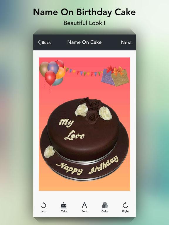 Birthday Cake Iphone Text