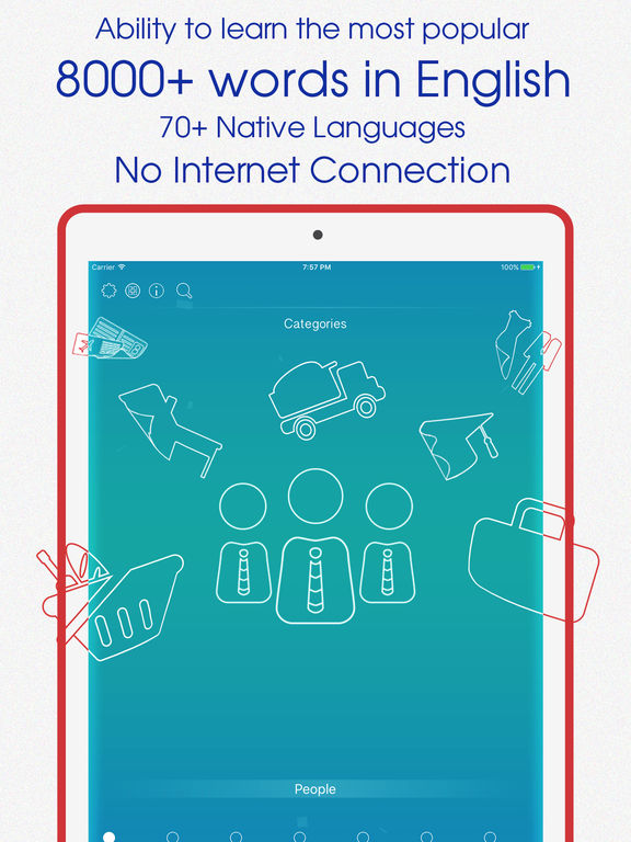 Learning English language 1.0 released for iOS - Expand Your Vocabulary Image