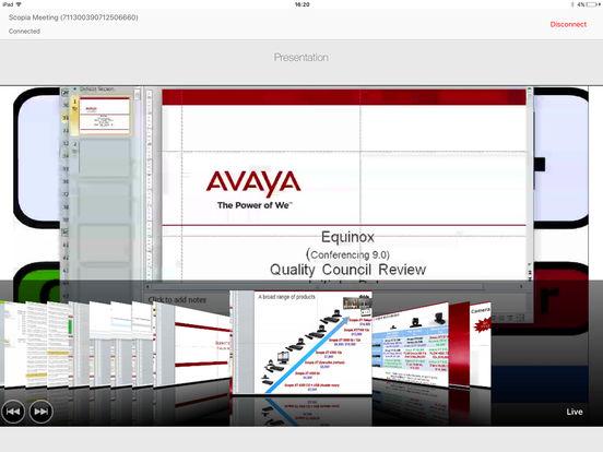 SCOPIA Control iPad Screenshot 1