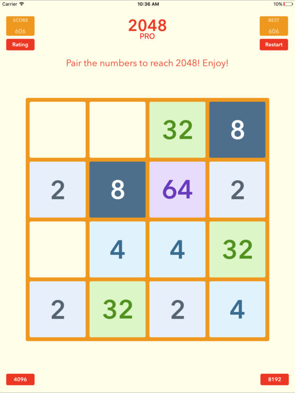 2048 Tile Pairing Challenge - Professional Version Screenshots