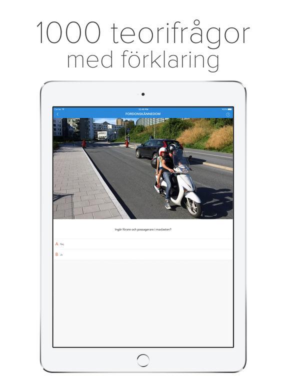 Ta AM-Körkort - Körkortsteori för moped Screenshots