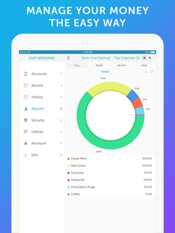 Screenshot #1 for Easy Spending - Money Tracker & Budget Planner