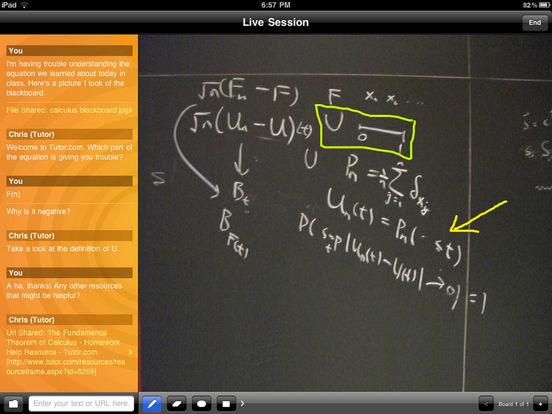 Tutor.com To Go iPad Screenshot 1