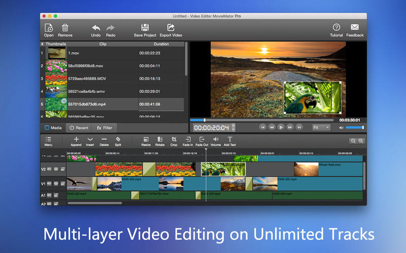 Screenshot #1 for Video Editor MovieMator Pro – Movie & Film Maker!