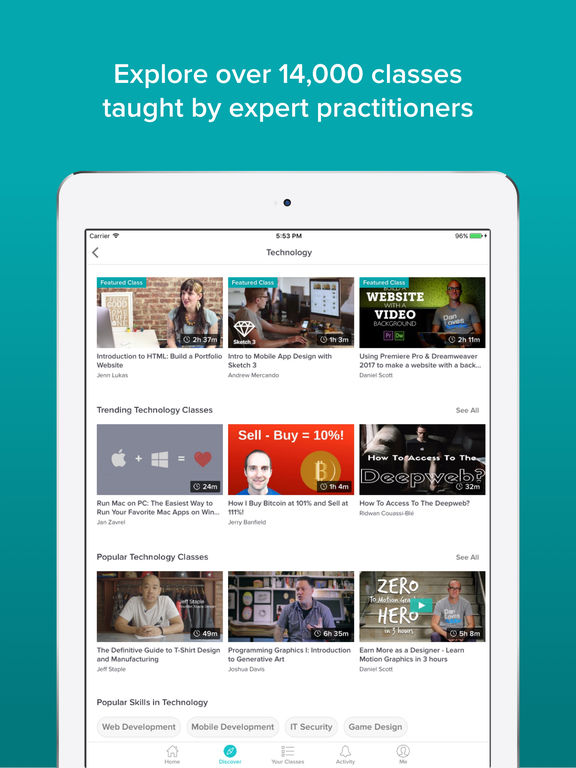 Skillshare Online Classes Screenshot