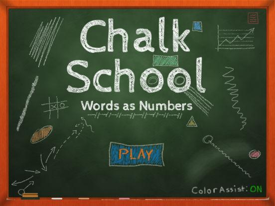Chalk School: Words as Numbers Screenshot