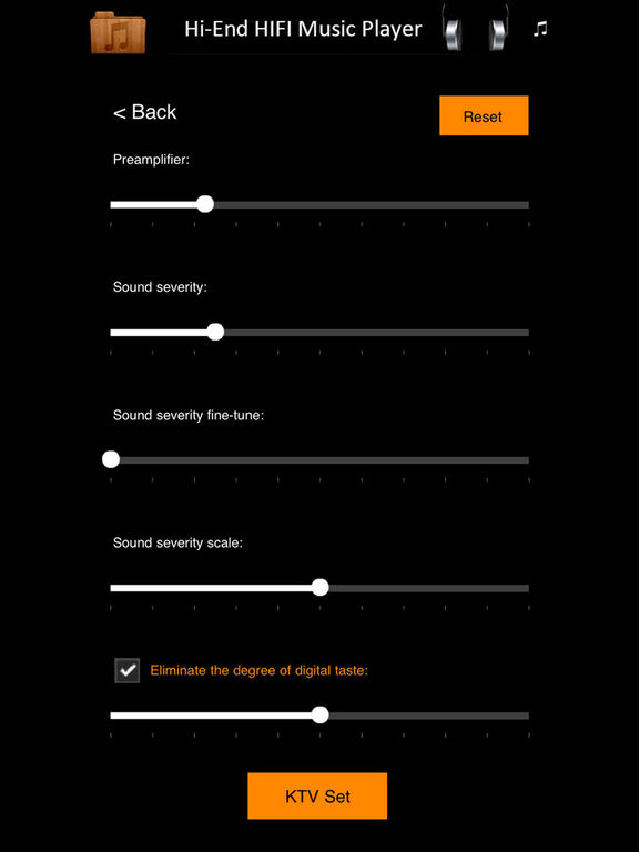 K Music Player Fancy - HIFI HI-END DSD Player Screenshots
