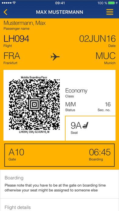 Lufthansa iPhone Screenshot 4