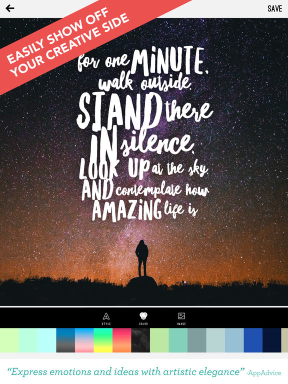 Word Swag - Cool fonts, typography generator, creative quotes, and text over pic editor! - 截图 3
