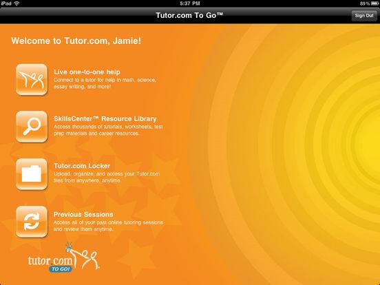 Tutor.com To Go iPad Screenshot 2