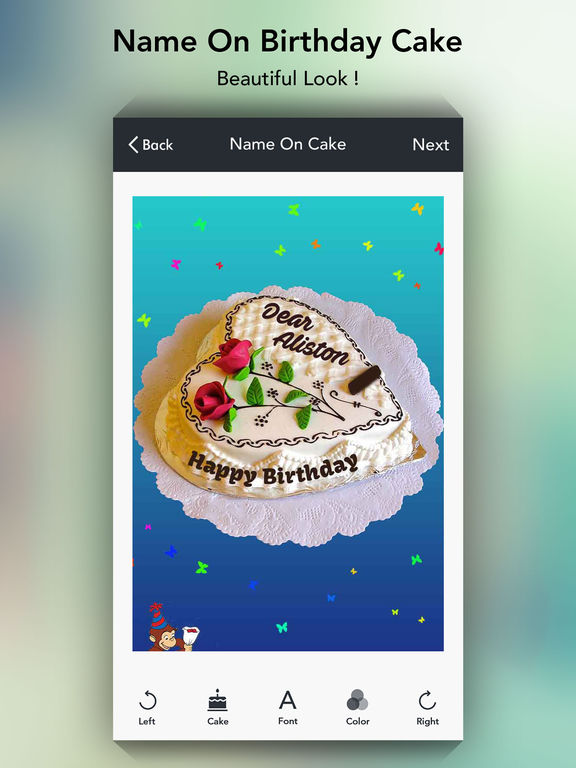 Birthday Cake Image With Name Reshma : App Shopper: Name on Cake - Birthday Cakes (Photography)