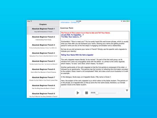 Beginner French for iPad iPad Screenshot 2