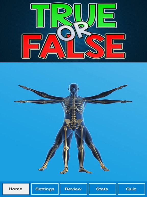 True False : Human Body Quiz screenshot 6