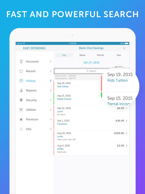 Screenshot #2 for Easy Spending - Money Tracker & Budget Planner