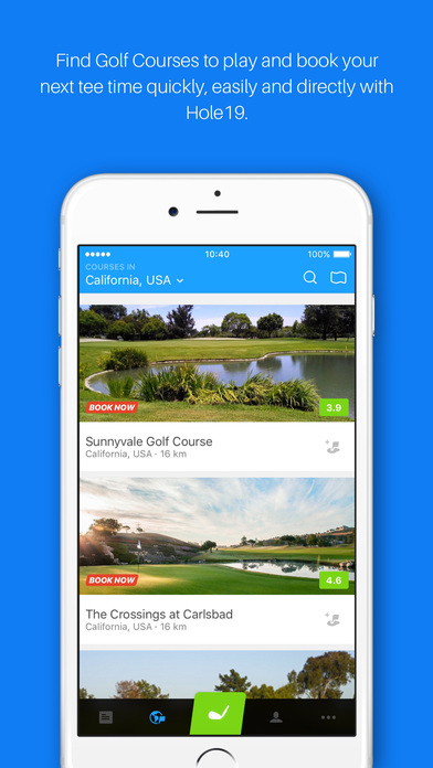 Golf GPS, Tee Time Booking & Scorecard by Hole19 app image