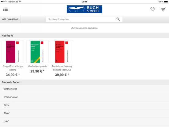 Buch & Mehr iPad Screenshot 2