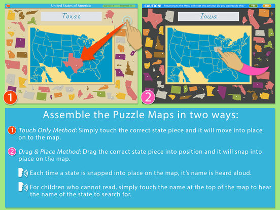 Montessori Approach To Geography HD - United States of America iPad Screenshot 4