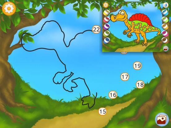 Соедините точки - Динозавры (Премиум)