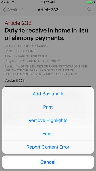 Louisiana Civil Code (LA Law) iPhone Screenshot 3