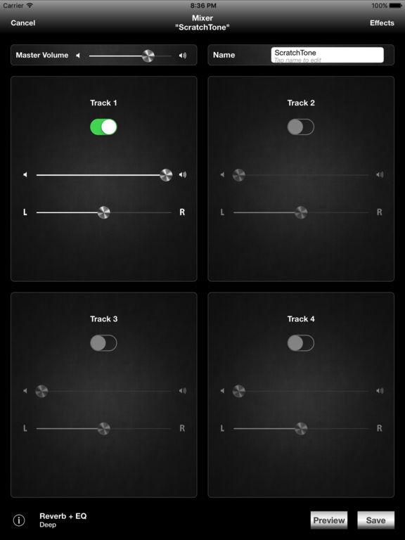 Screenshots for ScratchTones
