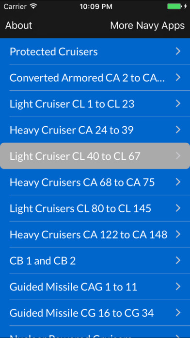 Cruisers of the US Navy iPhone Screenshot 1