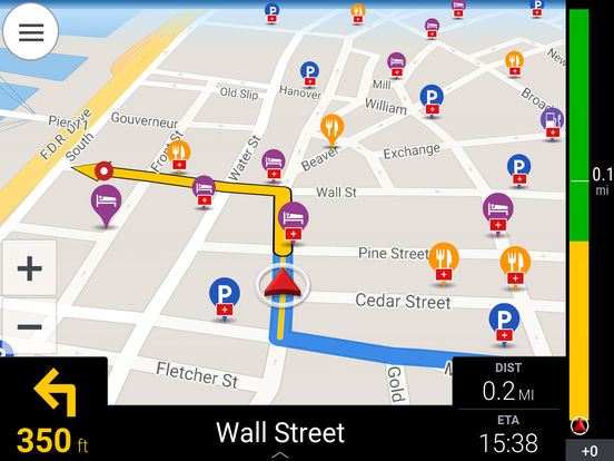 CoPilot HD USA & Canada – Offline GPS Navigation Screenshots