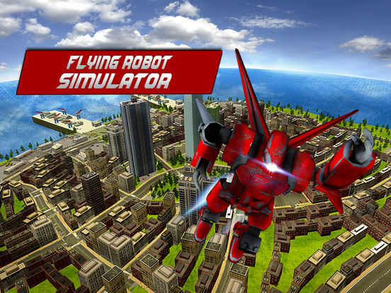 Flying Robot Simulator 3D Full screenshot 5