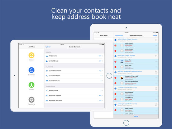 Contacts Sync for Google -auto sync,backup & clean Screenshots