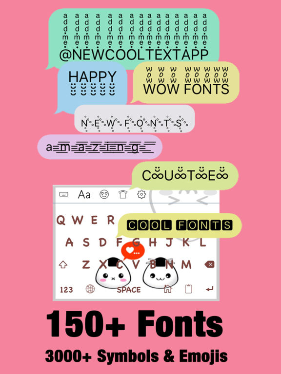 App Shopper New Cool Text Fonts Fxemoji Font Font Keyboard