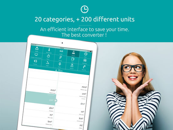 Universal converter free: Converts all units of measurement iPad Screenshot 1