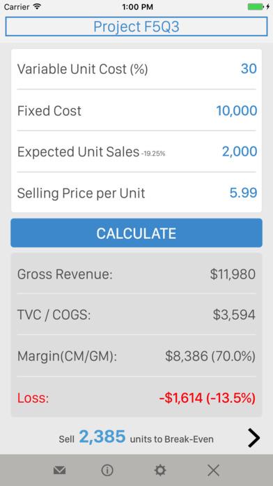 Break-Even Analysis iPhone Screenshot 4