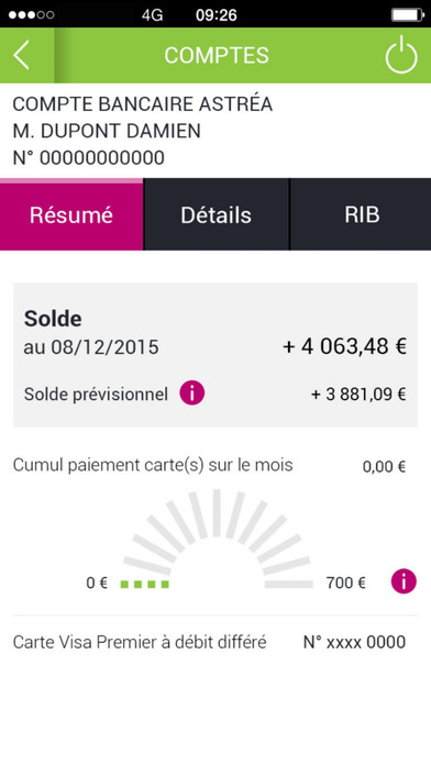 G Banque iPhone Screenshot 4