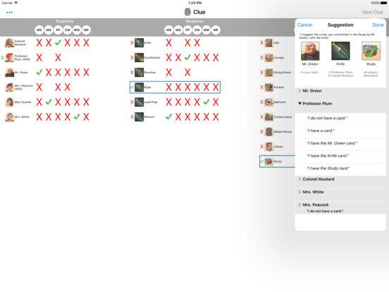 Clue Buster iPad Screenshot 1