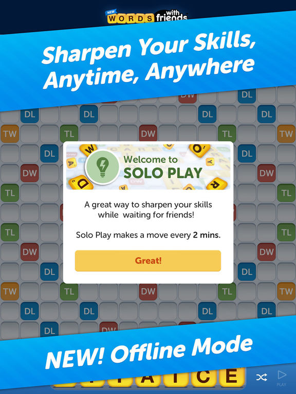 Screenshots of Words With Friends Classic for iPad