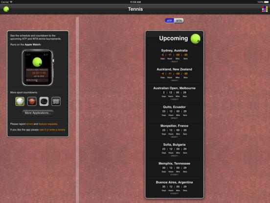 Tennis Matches iPad Screenshot 1