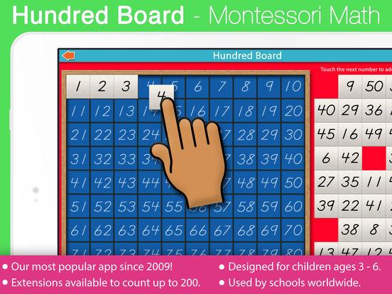 A Montessori Approach to Math - Hundred Board iPad Screenshot 1